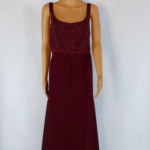 NWT Faviana Burgundy Long Gown in Plus Size